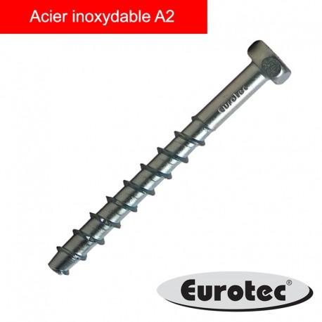 Vis pour béton Rock Bi-métal A2 - EUROTEC (8pcs)
