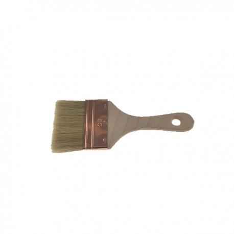 Spalter soie blanche avec virole en acier cuivré sans cale