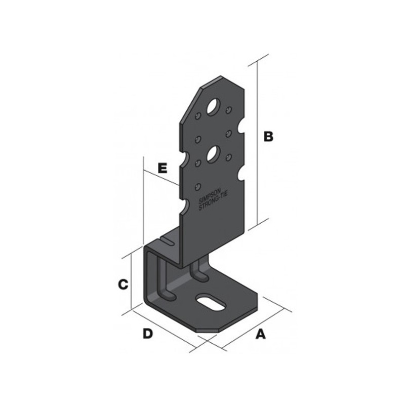 pied de poteau pour pergolapbp60 50. Black Bedroom Furniture Sets. Home Design Ideas