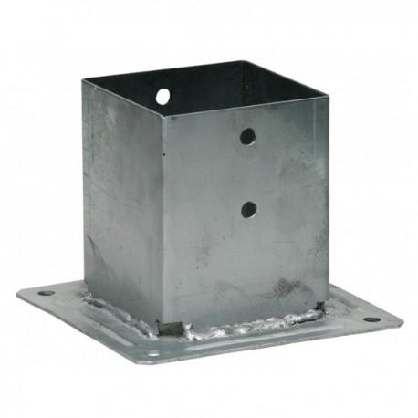 Pied de poteau carré sur platine (PPJBT)
